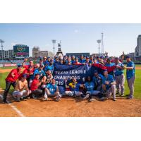 Amarillo Sod Poodles celebrate the 2019 Texas League Championship